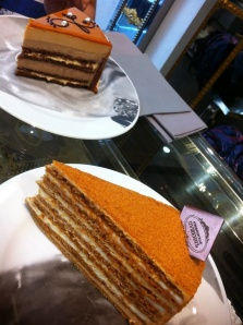 blog pic-caramel cake & honey cake